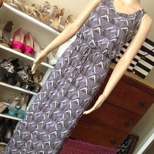Full length dress with drawstring waist
